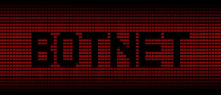 exploit: Botnet text on red laptops background illustration Stock Photo