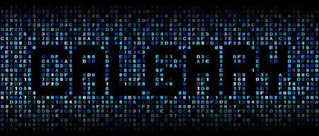 calgary: Calgary text on hex code illustration