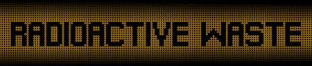 radioactive warning symbol: Radioactive Waste text on radioactive warning symbols illustration Stock Photo