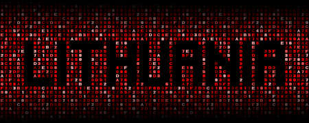 Lithuania text on hex code illustration Stock Photo