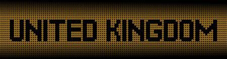 radioactive warning symbol: United Kingdom text on radioactive warning symbols illustration