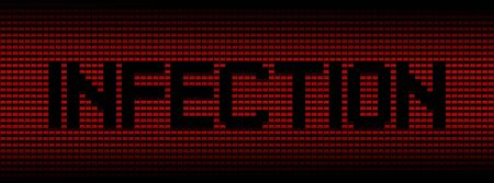 infection: Infection text on red laptops background illustration Stock Photo