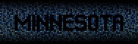 Minnesota text on hex code illustration