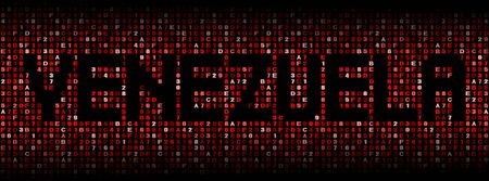 venezuela: Venezuela text on hex code illustration Stock Photo