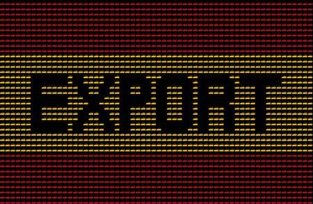 spanish flag: Export text on Spanish flag of cars illustration