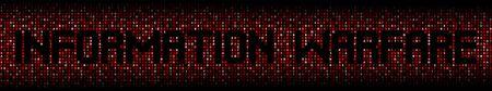 Information Warfare text on hex code illustration Stock Photo
