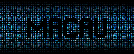 hex: Macau text on hex code illustration