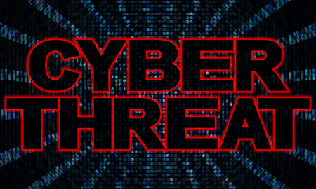 hex: Cyber threat text on hex code illustration Stock Photo