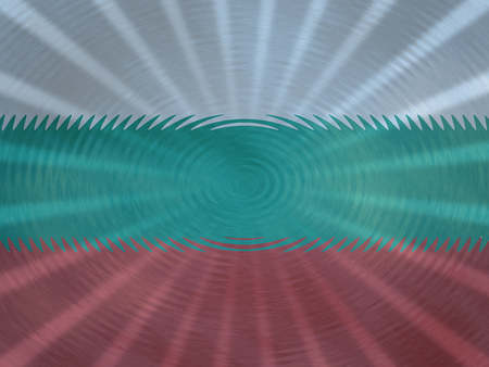 Bulgarian flag background with ripples and rays illustration
