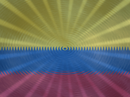 Colombian flag background with ripples and rays illustration