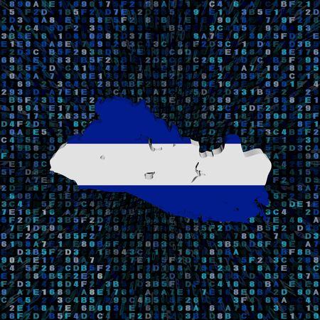 bandera de el salvador: Indicador de la correspondencia El Salvador en la ilustración de código hexadecimal