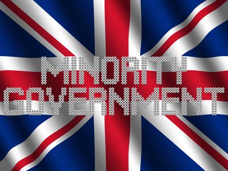 波状の英国旗イラストに関する投票の少数の政府本文