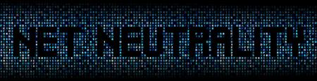 Net Neutrality text on hex code illustration