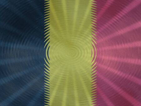 Belgian flag background with ripples and rays illustration Stock Photo