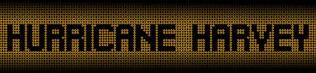 ハリケーン ハーヴェイ テキスト警告標識の図 写真素材
