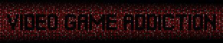 Texte de dépendance au jeu vidéo sur l'illustration de code hexadécimal