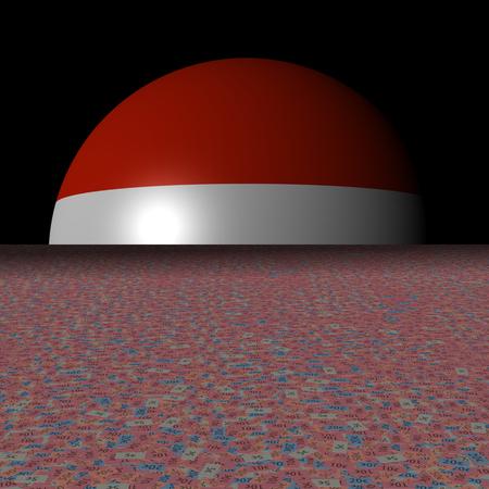 Sterreich Flagge Sphäre und abstrakte 3D-Darstellung Standard-Bild - 88713571