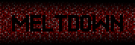 Meltdown text on hex code illustration 版權商用圖片