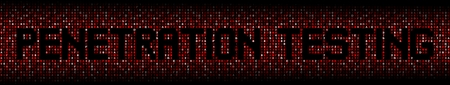 Penetration Testing text on abstract hex background illustration