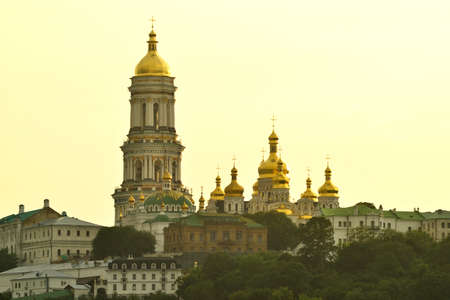 lavra: Great Lavra Bell Tower and Dormition Cathedral of Kiev Pechersk Lavra
