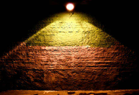 illuminated: Illuminated brick wall background