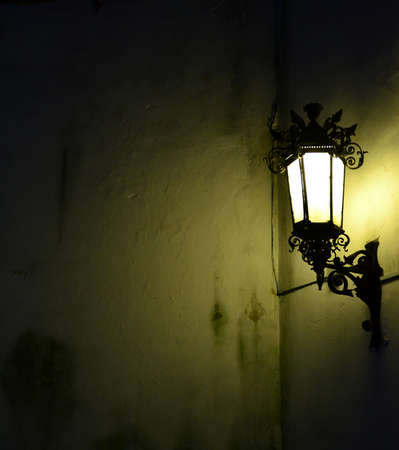 illuminated: Wall illuminated by lantern background