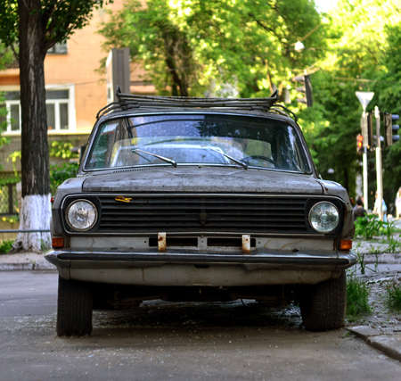 soviet: Vintage soviet car Volga Stock Photo