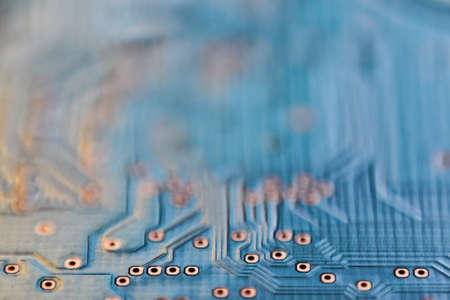 micro chip: Abstract micro chip cyber circuit modern technology close up background
