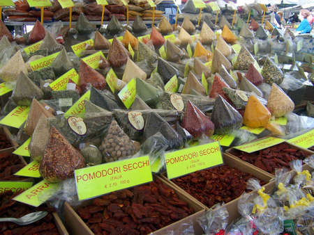 spice market stall in italy Stock Photo - 8116261