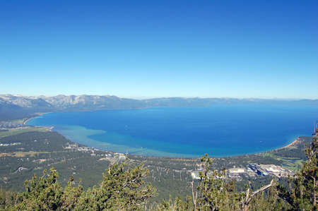 scenic view of lake tahoe, california Stock Photo
