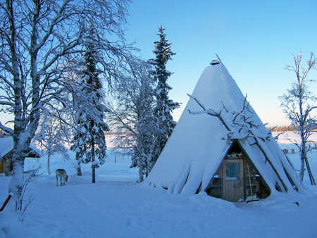 sami house in lapland photo