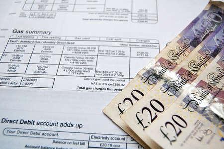 bill domestique et des notes de paiement