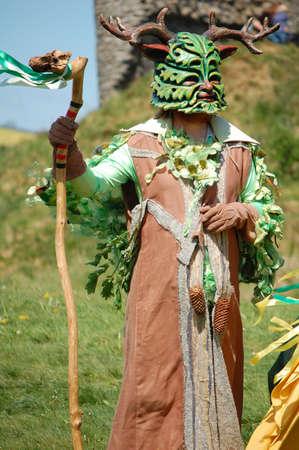 Green Man of Clun at May Day Festival, Shropshire UK, May 2011  Stock Photo - 10038308