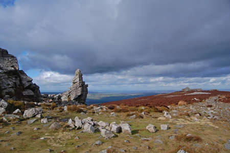 upland: view of stiperstones in shropshire