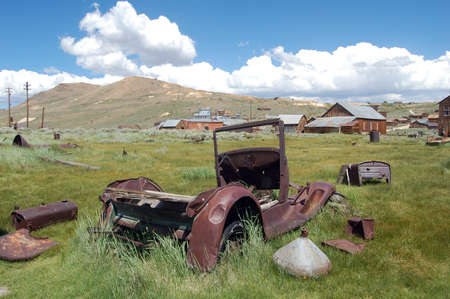 old car in bodie ghost town, california photo