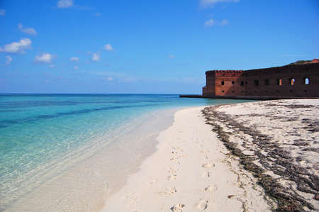 fort jefferson: Beach at Fort Jefferson, Dry Tortugas