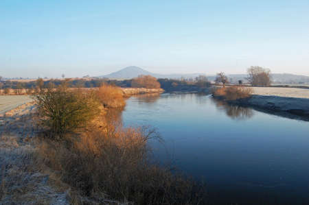 the wrekin and river severn in shropshire, england