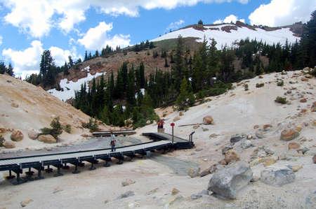 boardwalk trail: boardwalk trail in lassen