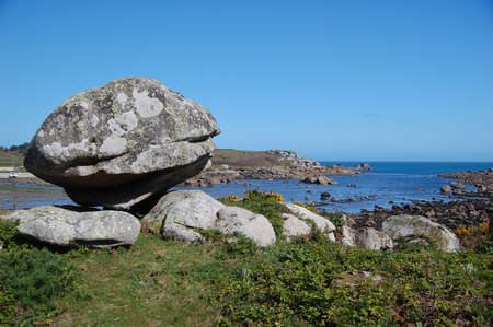scilly: view of coastline on isles of scilly