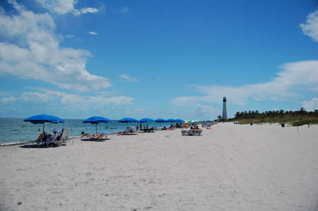 bill baggs: bill baggs state park beach   cape florida lighthouse Stock Photo
