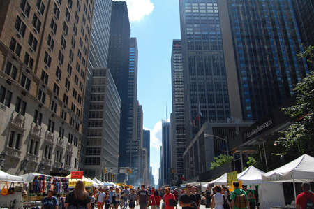 NEW YORK, USA - AUGUST 18  the annual Great Irish Festival held on 6th Avenue with food and craft stalls in New York City on August 18, 2012, Avenue of the Americas, NYC, USA   Stock Photo - 16287222