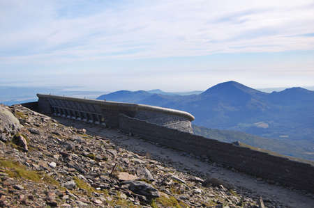 visitor center at the top of Snowdon, Wales