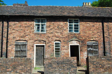 derelict terraced houses in england