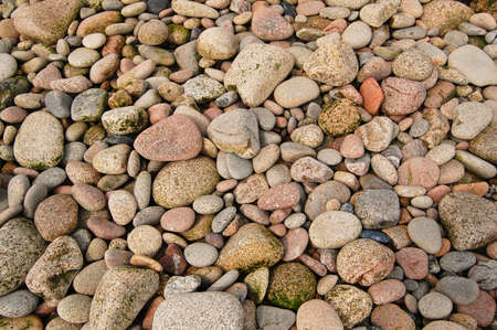 pebbles and stones on an english beach  Stock Photo