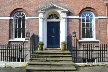 front door entrance to Georgian property