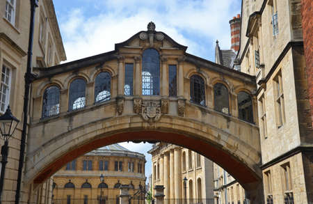 the Bridge of Sighs in Oxford, England photo