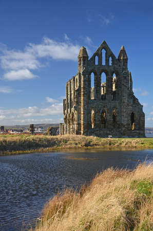 whitby: Whitby Abbey in Yorkshire overlooking the North Sea