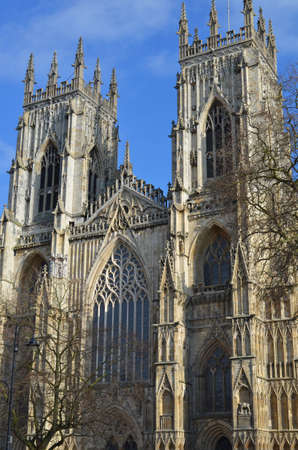 york minster: west front of York Minster Stock Photo