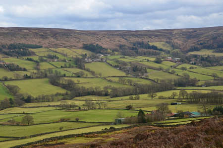 uplands: view of the Yorkshire Moors in North England Stock Photo
