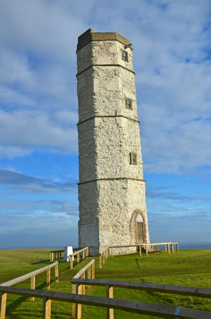 surviving: the oldest surviving lighthouse in England at Flamborough Head